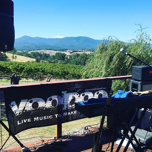 And the stage is set - check out that stunning view #livemusic #weddings