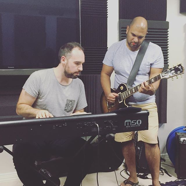 @danbeebee is back to help us kick off the new year! #rehearsals #voodooband #corporateband #livemusic