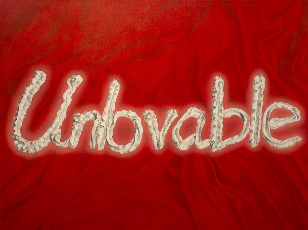 """Unlovable  Oil on canvas 72"""" x 54"""" 2013"""
