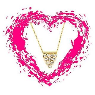 Everybody loves a little bling💎💎💎Our Pyramid Pendant Necklace sparkles like crazy and at only $30 this week it's the perfect gift to show someone you love them! #madamemathilde #jotd #valentine #valentinesgift #swarovski