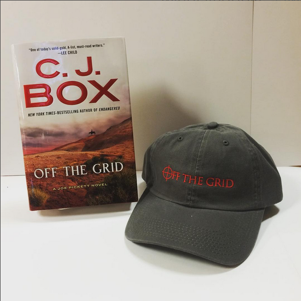 "We will be raffling off a signed copy of his new book and an ""Off the Grid"" hat.  Must be present to win."
