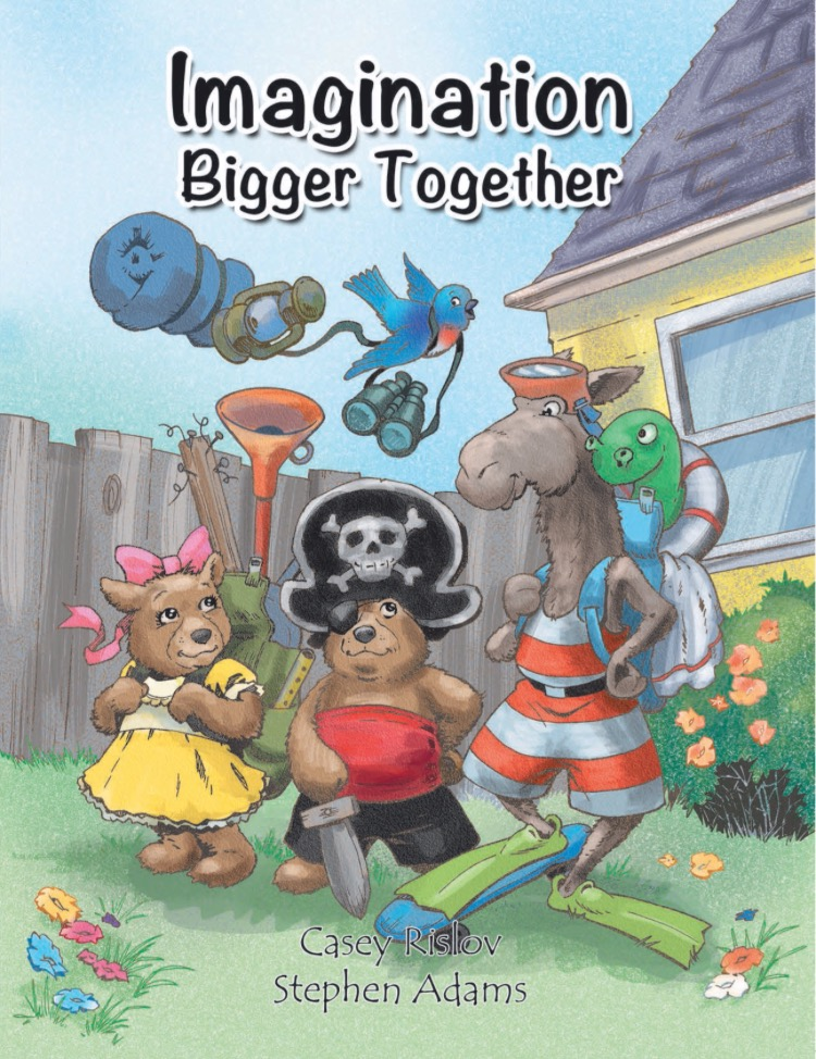 Imagination BIGGER TOGETHER will inspire children to create, discover, & dream of adventures as near as their own backyards. From making mud cakes with imaginary friends to treasure hunting for gems, a whole world is just a child's imagination away.