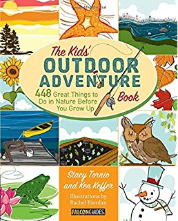 Nature is a destination, but you don't have to travel anywhere to find it. Just open the door and step outside. A fun, hands on approach to getting involved in nature,  The Kids' Outdoor Adventure Book  is a year-round how-to activity guidebook for getting kids outdoors and exploring nature, be it catching fireflies in the cool summer evenings; making birdfeeders in the fall from peanut butter, pine cones, and seed; building a snowman in 3 feet of fresh winter snow; or playing duck, duck, goose with friends in a meadow on a warm spring day.  The Kids' Outdoor Adventure Book  includes 448 things to do in nature for kids of all ages--more than one activity for every single day of the year. Each of the year's four seasons includes fifty checklist items, fifty challenge items, three each of projects, destinations, garden recipes, and outdoor games. Throughout the book, you'll also find fascinating facts, useful tips and tricks, and plenty of additional resources to turn to. Complete with whimsical, vibrant illustrations, this book is a must for parents and their kids.
