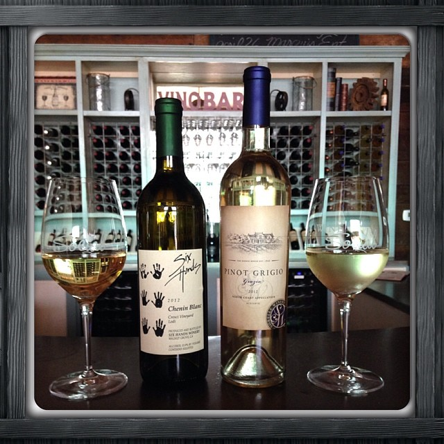 #instacollage We are open from 3pm to 8 pm today. Stop by for a glass of #sixhandswineryCheninBlanc or #sorellewineryPinotGrigio before it is all gone.