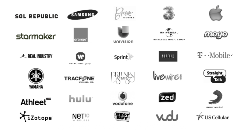 A snapshot of brands we love and worked with over the last 15 years.  Consumer Electronic | Music | Video | Wireless | Technology