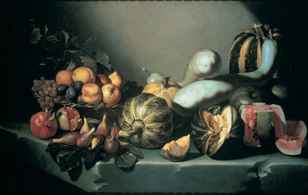 Caravaggio, Still Life with Fruit on a Stone Ledge, 1603
