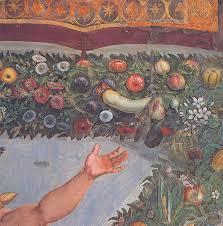 Giovanni da Udine, detail of border surrounding Raphael's Cupid and Psyche, Villa Farnesina, Rome.