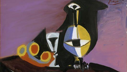 Pablo Picasso,  Fruit Carafe and Glass , 1938