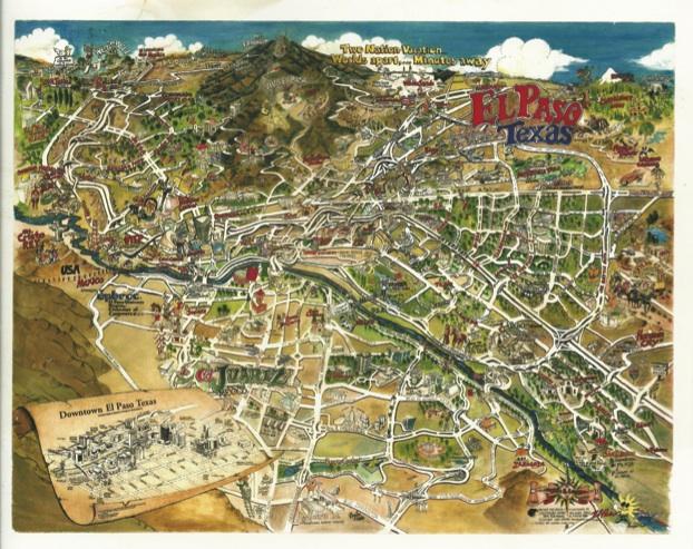 courtesy photo. El Paso tourist map 2013.