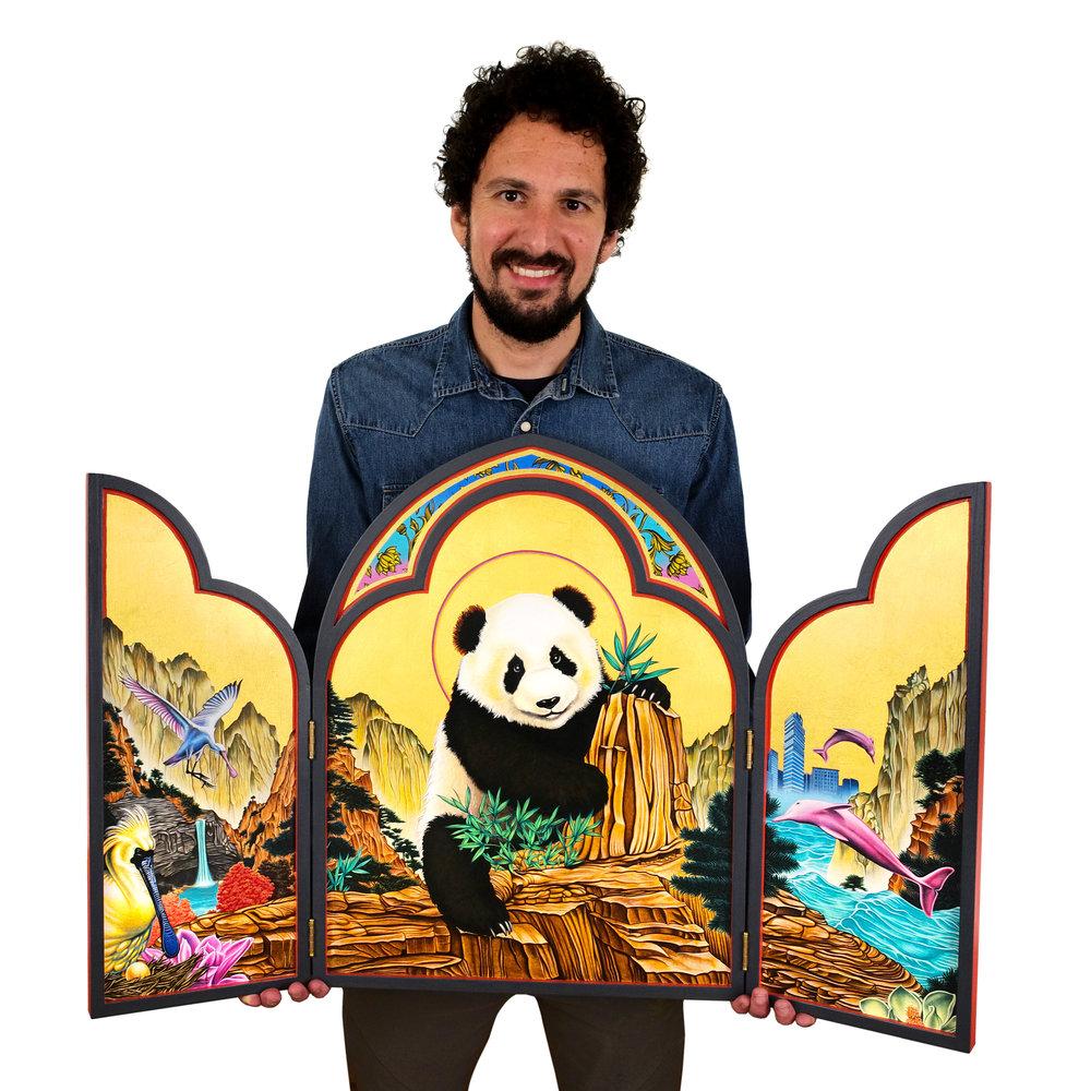 peter-d-gerakaris-in-studio-with-panda-icon-triptych-portrait-by-mark-lennihan-L1009289-HI-RES-edit-2500px copy.jpg