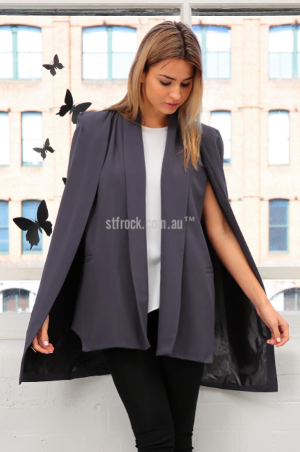 Overdrive Cape in Charcoal on ST FROCK // $69.90 // BUY HERE