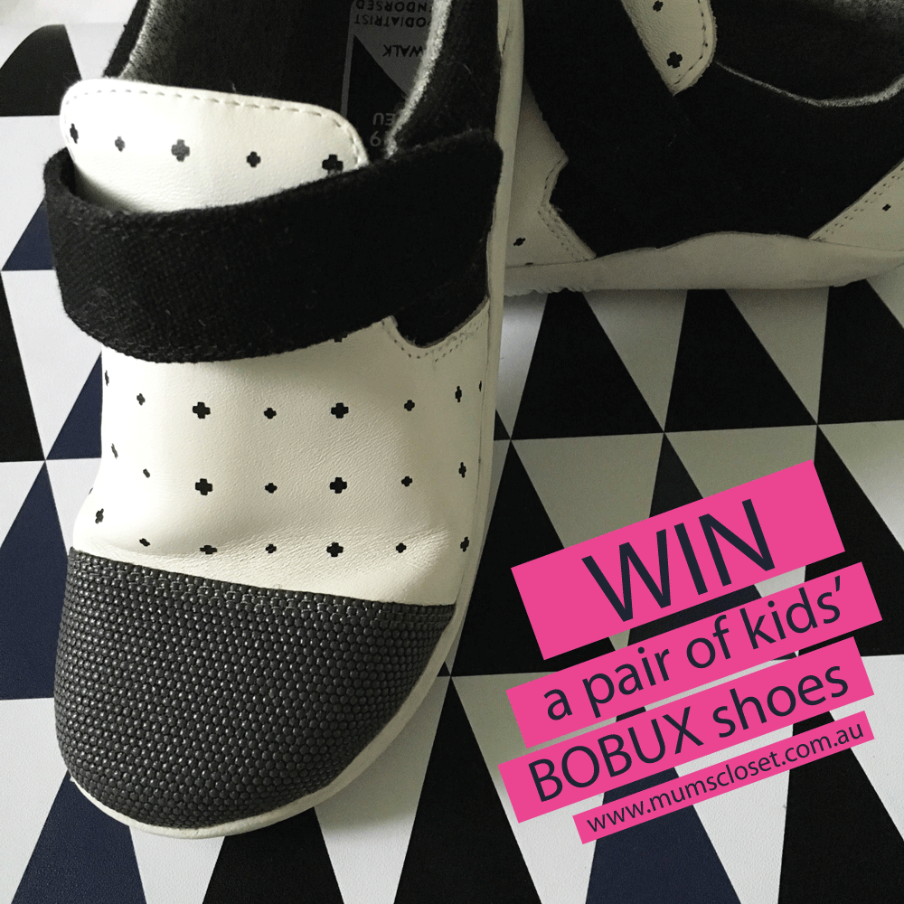 Win Bobux Solene Shoes on Mum's Closet Australian blog giveaway