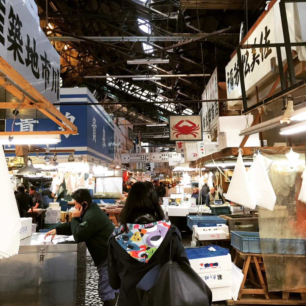 Hood by Chris Uphues. Go to the Tsukiji Fish Market around 3:30am after a night out to watch the tuna auction.