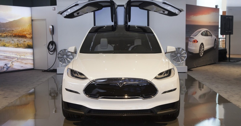 Tesla Model X Prototype with Nose Cone.