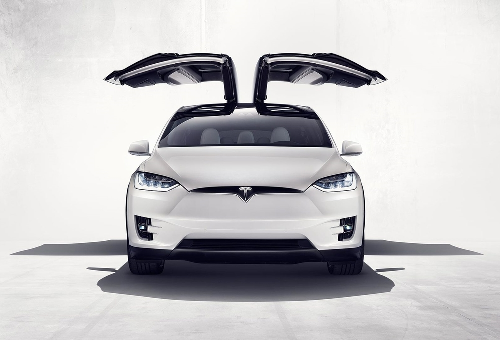 Tesla Model X without Nose Cone