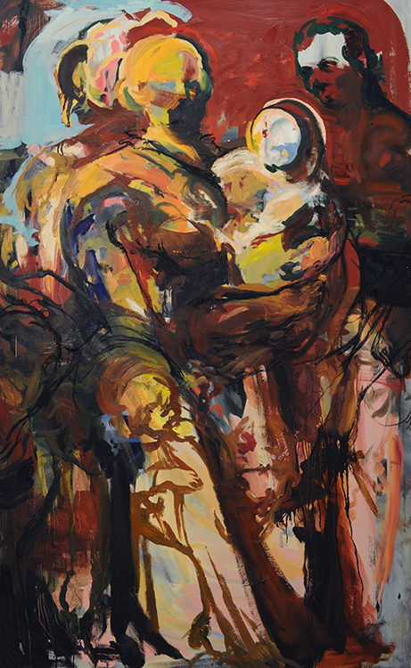 Hjerter af Mødrene , oil on canvas, 46x74in, 2014