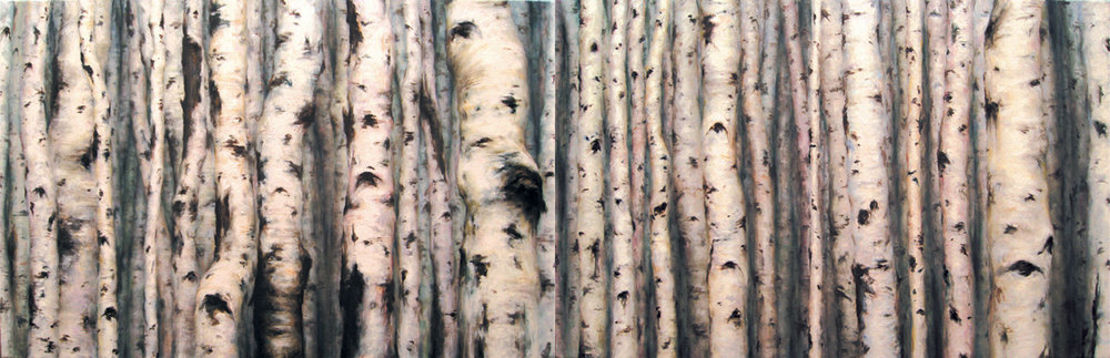 Populous Tremuloides , oil on linen, 30x92in, 2008