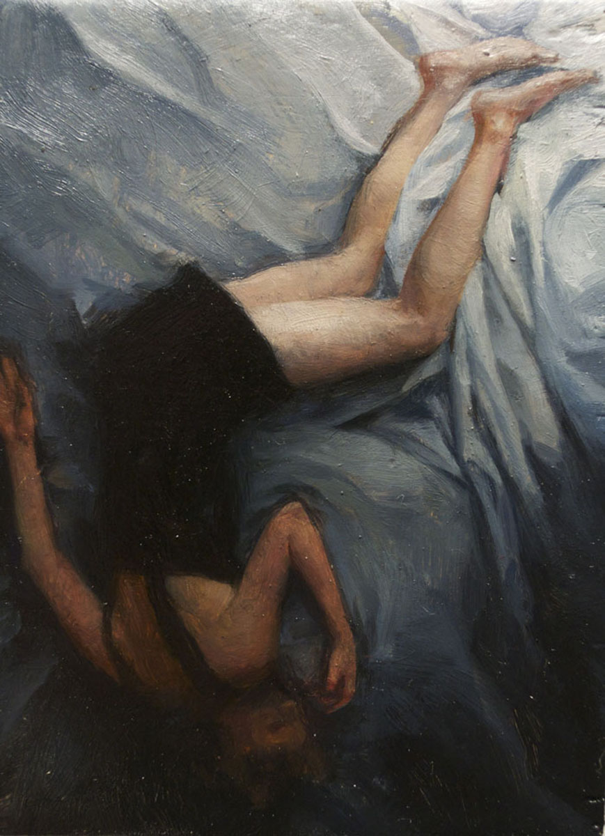 Sleeper 1 , oil on board, 4x2.5in, 2012