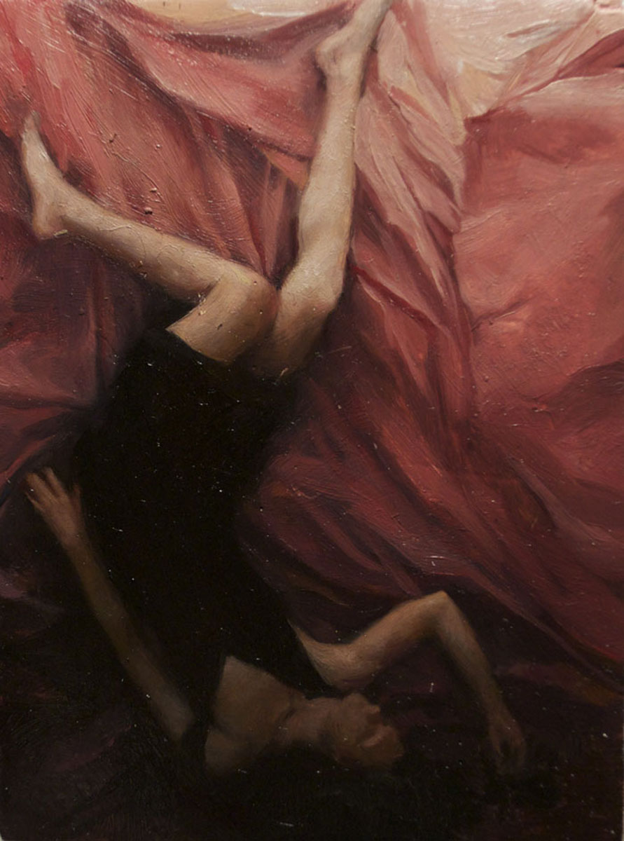 Sleeper 3 , oil on board, 4x2.5in, 2012