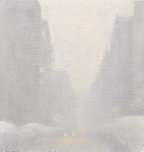 Snow , oil on board, 10x10.5in, 2010