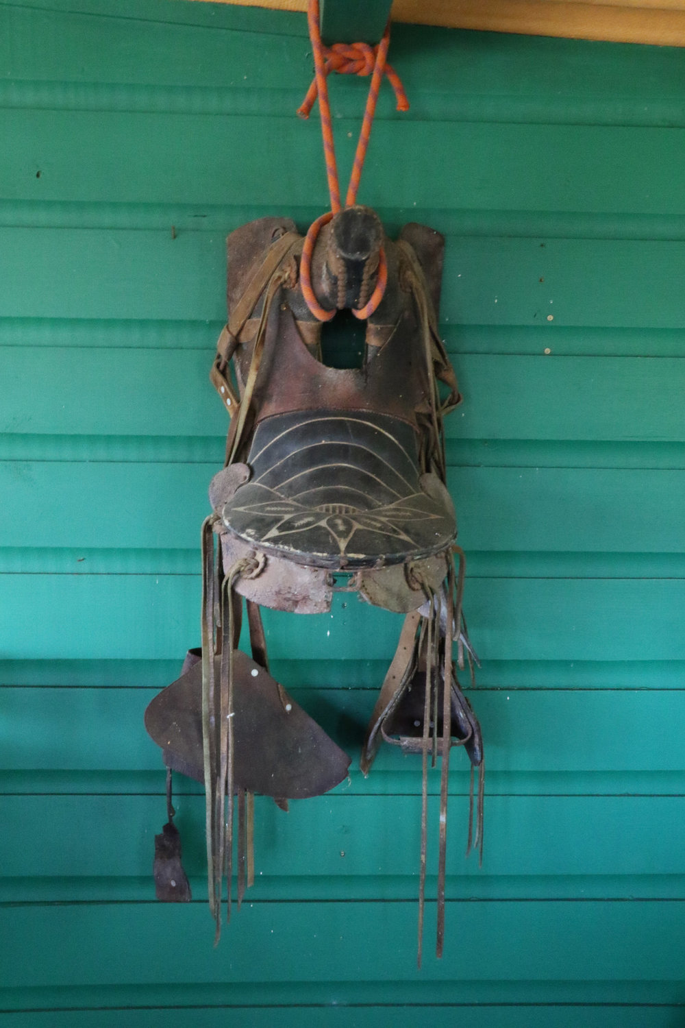 A Saddle On The Wall Reminds Us of the Ecolodge's History