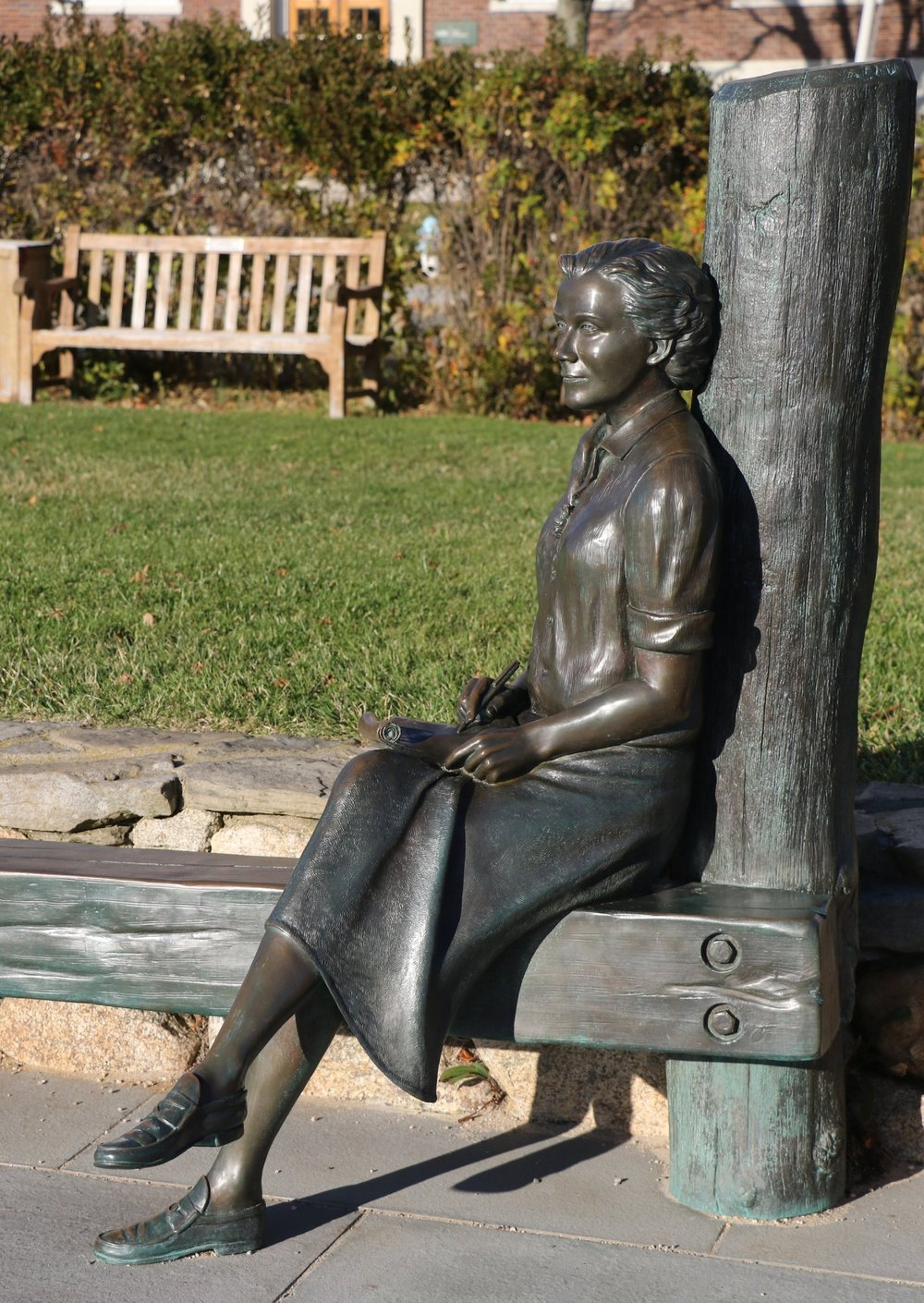Waterfront Statue of Environmental Activist Rachel Carson