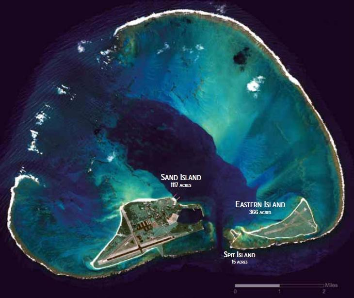 Satellite Image of Midway Atoll, 2008. Photo Credit:  Wikipedia