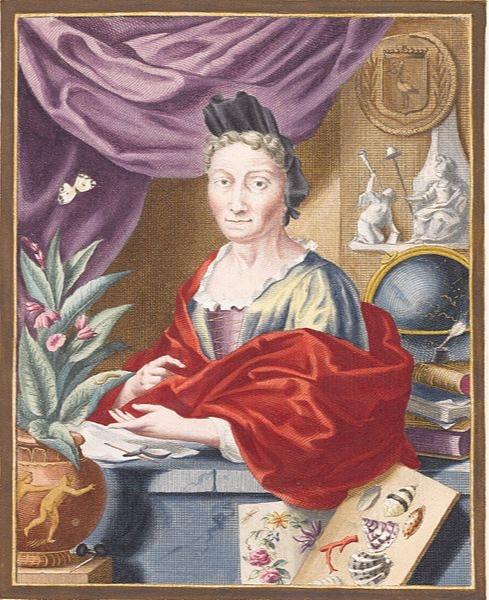 Maria Sibylla Merian, circa 1700   Jacobus Houbraken