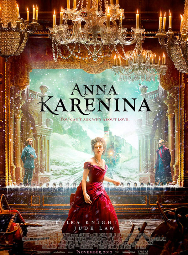 Anna Karenina was recently remade as a movie starring Keira Knightly, because every 18th century movie ever stars Kiera Knightly. Fortunately the film contains fewer lengthy descriptions of scenery than the book does.
