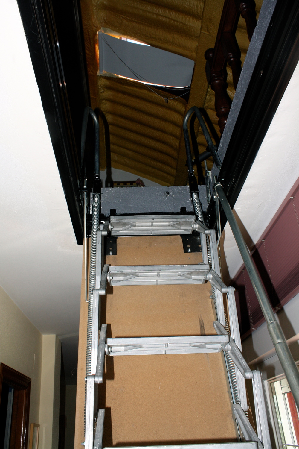 My creaky, scary ladder, I am really amazed I haven't killed myself falling down.