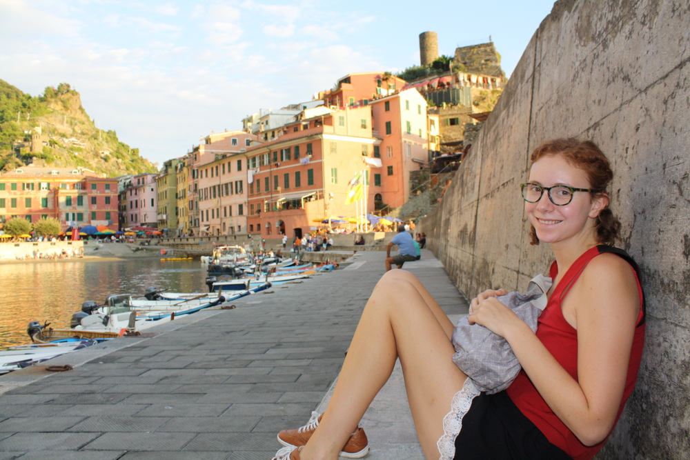 I enjoyed sitting in Vernazza and watching the street life. I mostly enjoyed the sitting part, as we were about the climb the castle in the background and I needed to gather my strength!