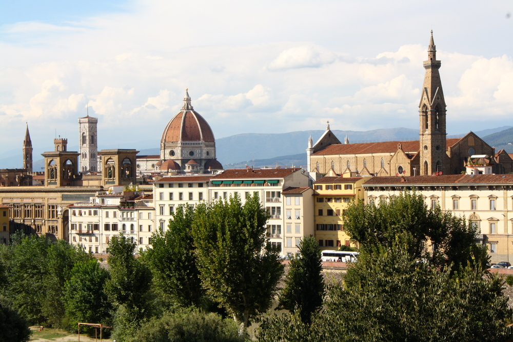 Florence, as seen from the Piazza de Michelangelo.