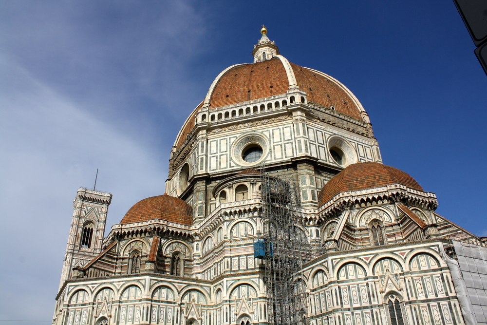 The Duomo, an impressive dome church that was never completely finished but is beautiful nonetheless.