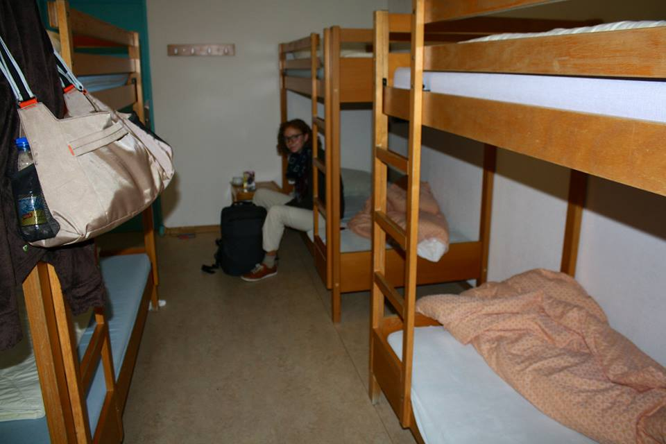Our hostel room.