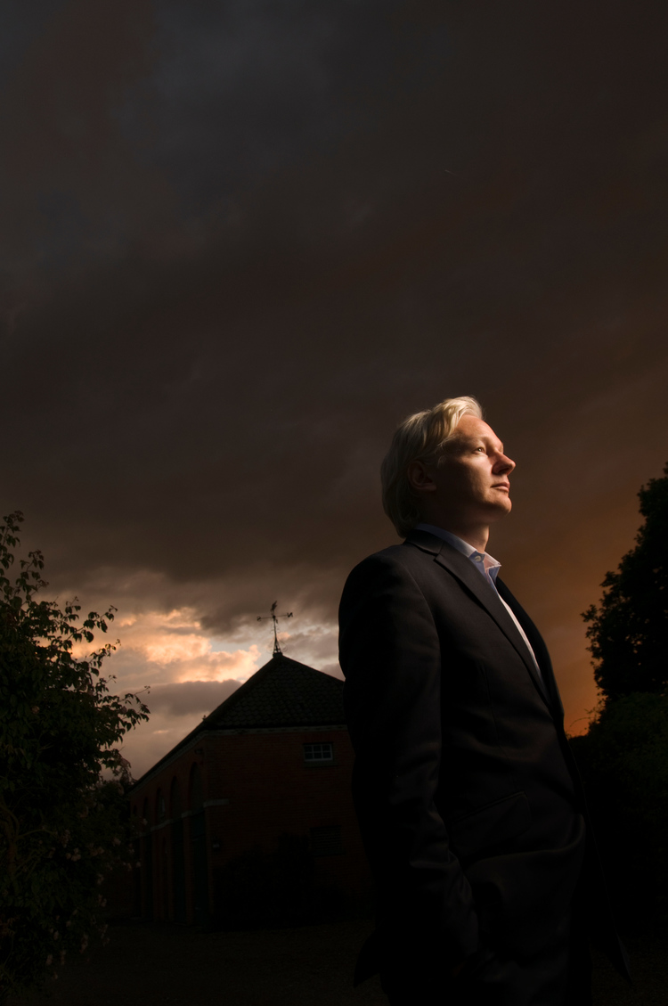 Julian Assange by Nashville Photographer Allen Clark