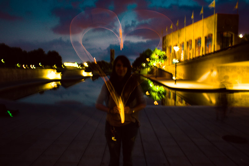 @k8mclaughlin modeling for me for an epic heart light trail!