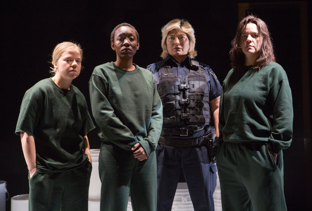 Vivien Endicott-Douglas, Virgilia Griffith, Columpa Bobb and Michaela Washburn in Guarded Girls photo by Cylla von Tiedemann