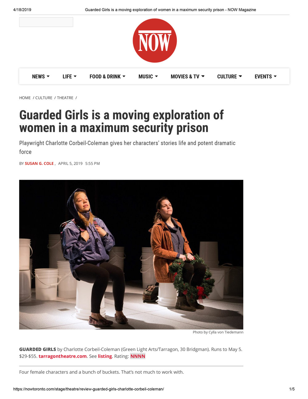 Guarded Girls is a moving exploration of women in a maximum security prison - NOW Magazine.jpg