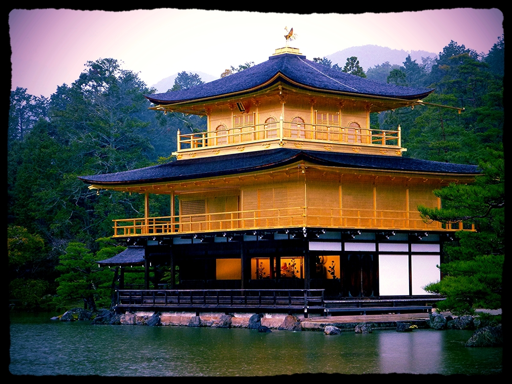Kinkaku-ji in Kyoto. One of the many beautiful but tourist-saturated spots where I just about lost it.