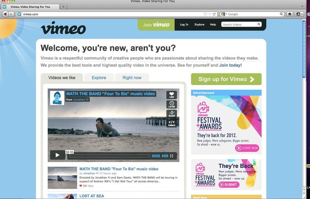 Vimeo Staff Pick! Front Page!