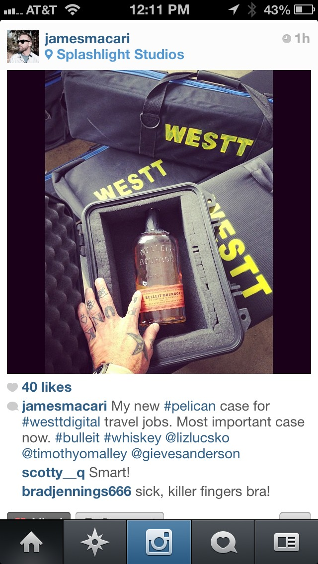 James Macari and I are on the same wavelength. I need a pelican case for my whiskey too