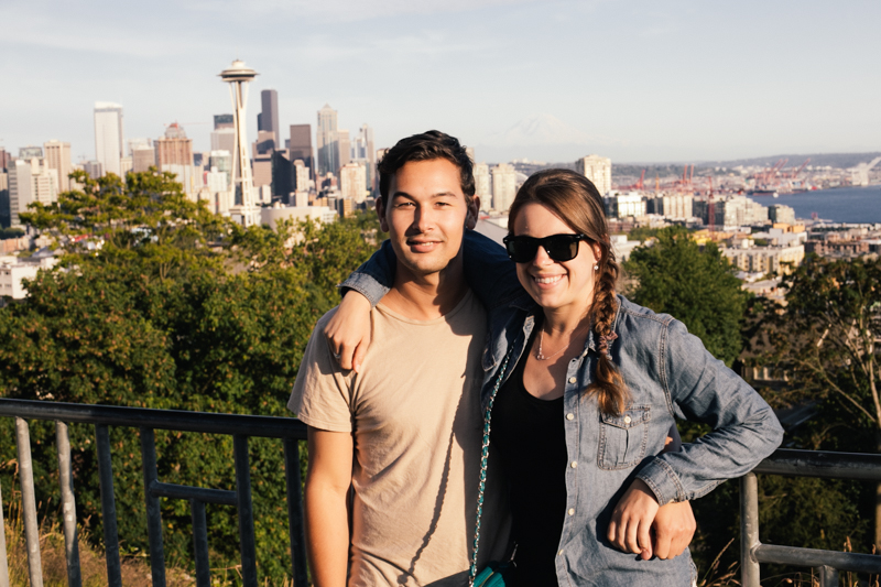 The girlfriend and I at Kerry Park outlook.