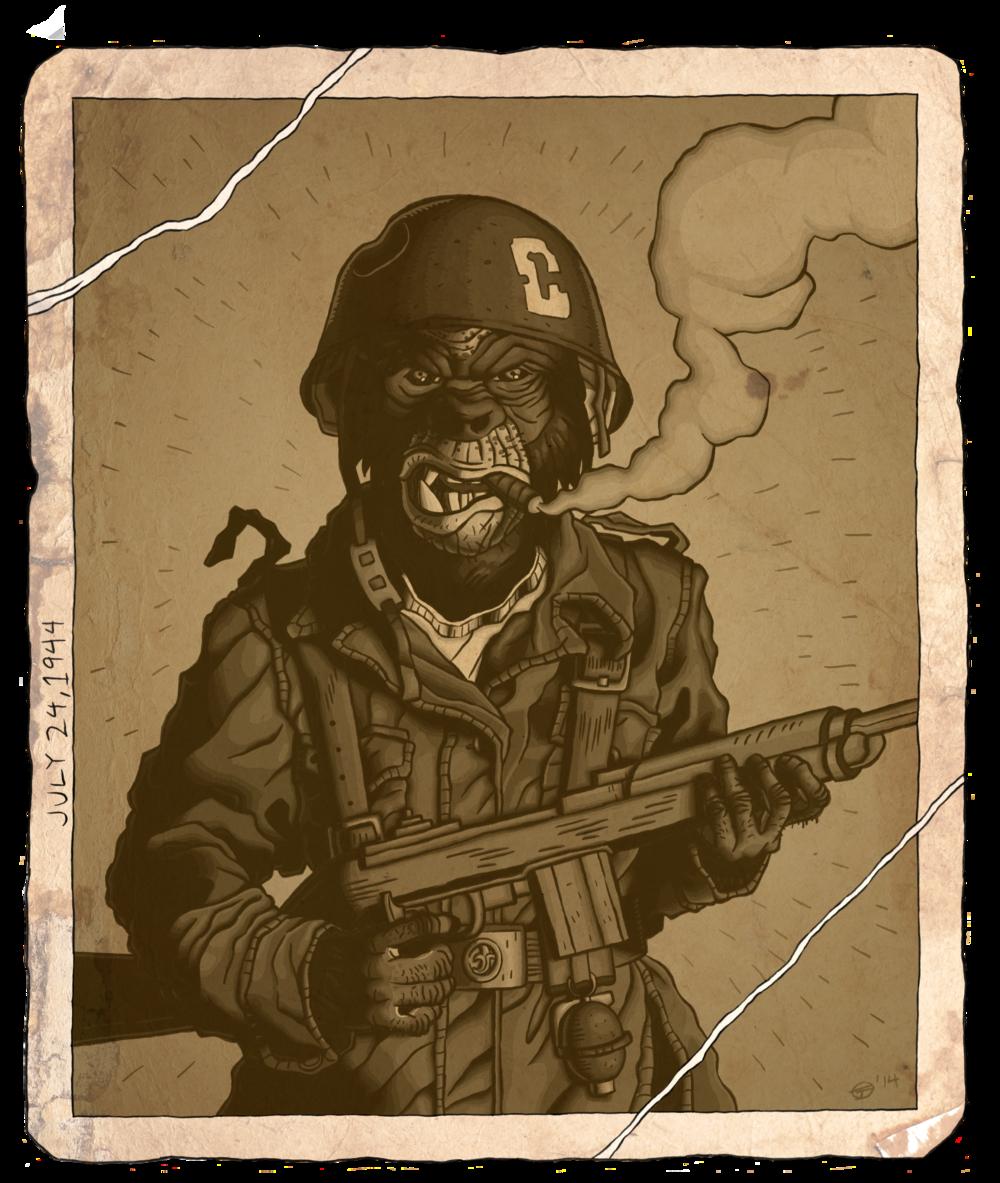CHIMP GONE TO WAR