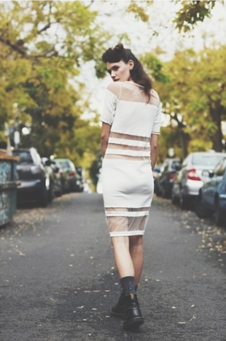 Rosie Nelson Australian Fashion Model in a street photograph - M.B Harper Blog