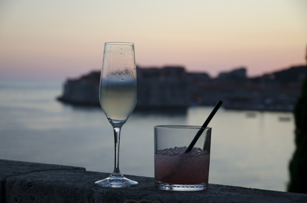 Drinks over looking Dubrovnik - Victoria Restaurant and Bar