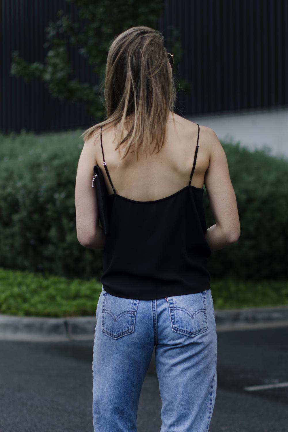 style blog - back jeans