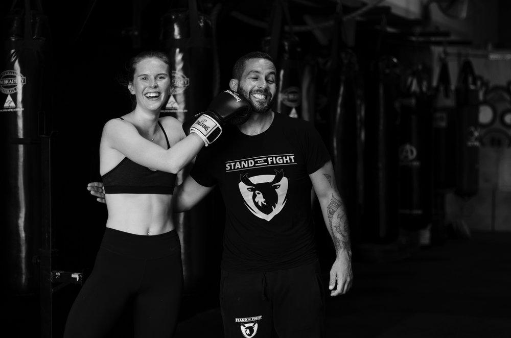 jamie milne - monica bestek - workout - boxing
