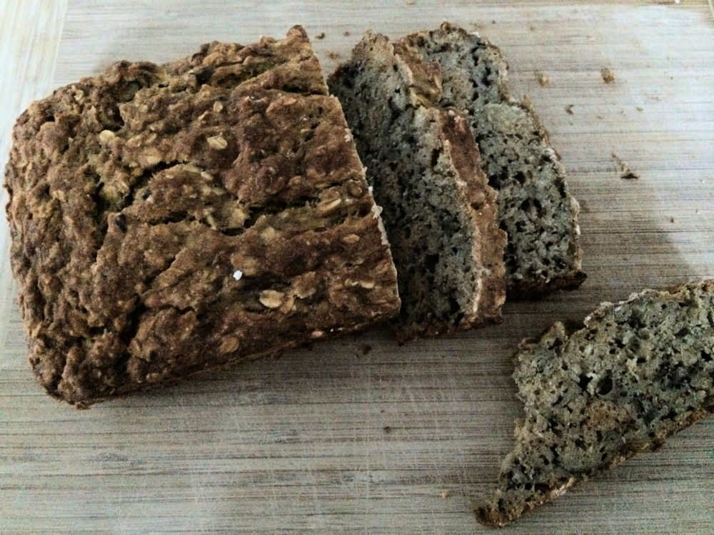 Peach, Banana and Oatmeal Bread
