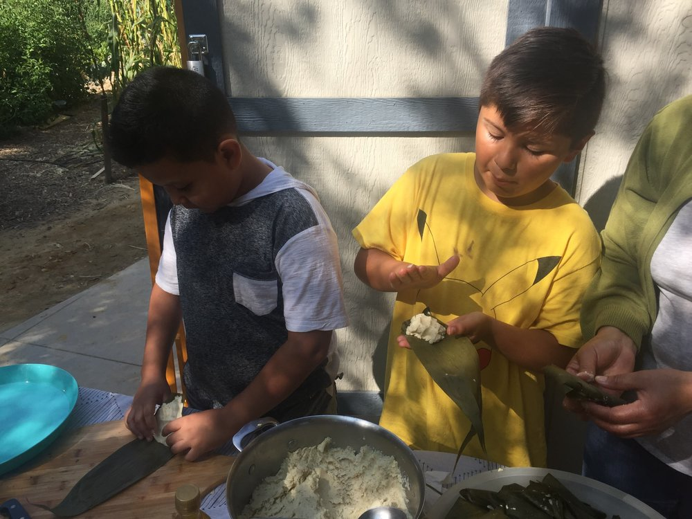 Tamales really are a family event; always made in bulk with everyone pitching in to wrap them up.