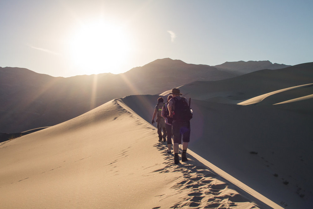 Hiking the Eureka Sand Dunes of Death Valley National Park